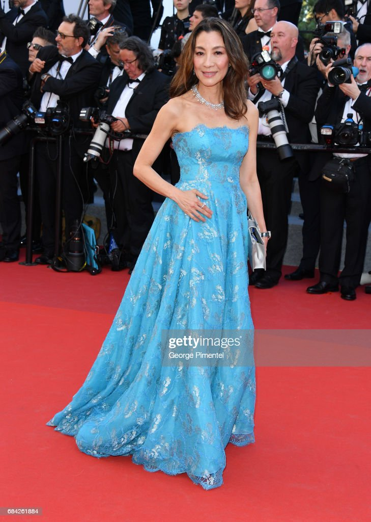 Michelle Yeoh attends the 'Ismael's Ghosts (Les Fantomes d'Ismael)' screening and Opening Gala during the 70th annual Cannes Film Festival at Palais des Festivals on May 17, 2017 in Cannes, France.