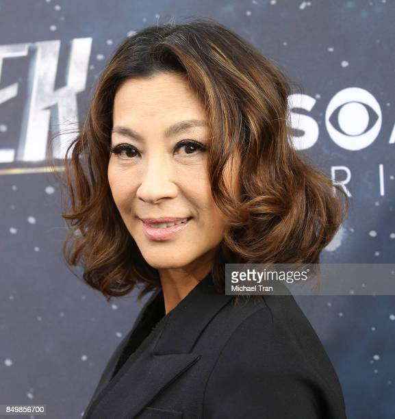 Michelle Yeoh attends the Los Angeles premiere of CBS's 'Star Trek Discovery' held at The Cinerama Dome on September 19 2017 in Los Angeles California