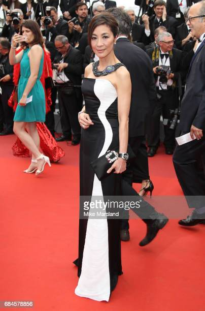 Michelle Yeoh attends the 'Loveless ' screening during the 70th annual Cannes Film Festival at Palais des Festivals on May 18 2017 in Cannes France