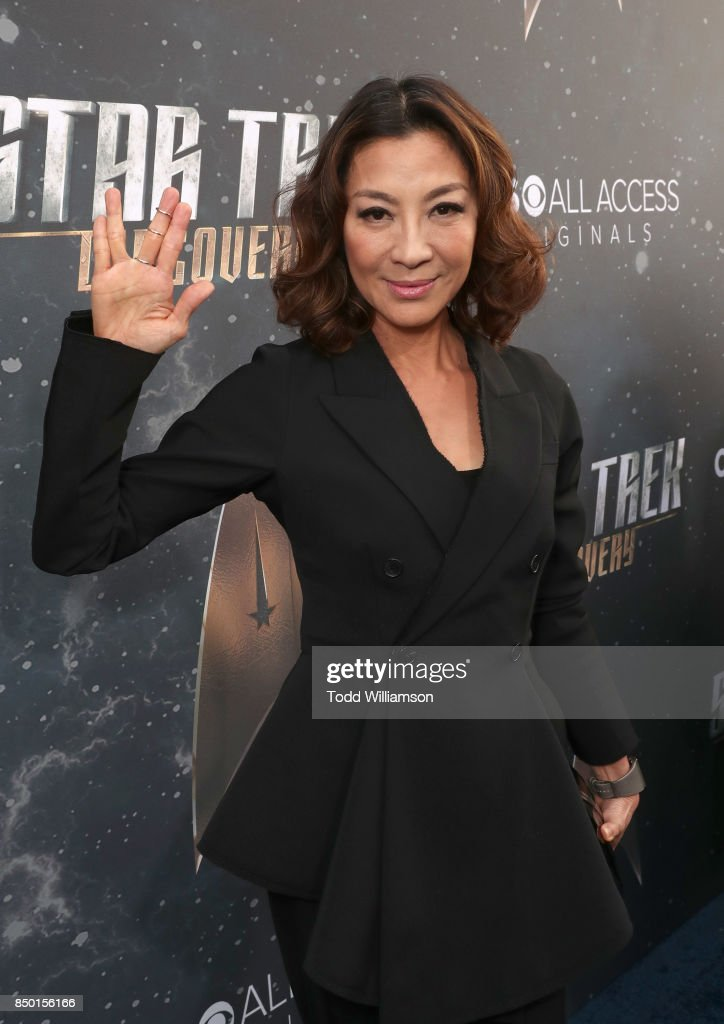 Michelle Yeoh attends the premiere of CBS's 'Star Trek: Discovery' at The Cinerama Dome on September 19, 2017 in Los Angeles, California.