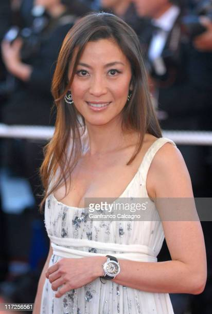 Michelle Yeoh during 2006 Cannes Film Festival Volver Premiere at Palais du Festival in Cannes France