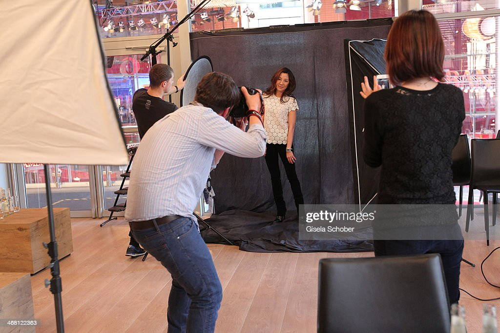 Michelle Yeoh poses for a portrait inside the AUDI Lounge at the Marlene Dietrich Platz during day 4 of the Berlinale International Film Festival on on February 9, 2014 in Berlin, Germany.
