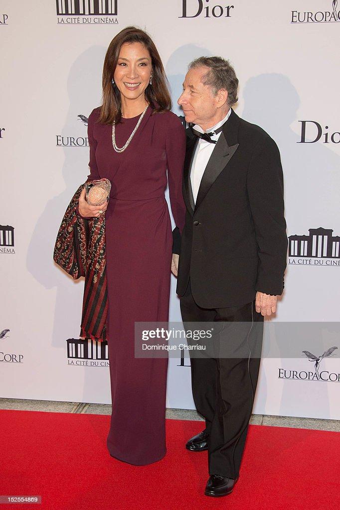 Michelle Yeohand Jean todt attend 'La Cite Du Cinema' Launch on September 21, 2012 in Saint-Denis, France.