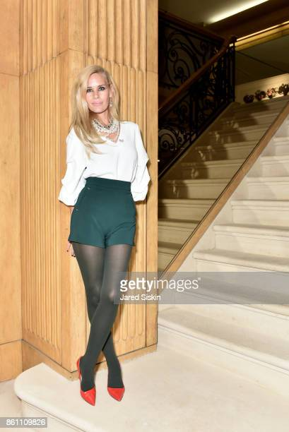 MichelleMarie Heinemann attends Old Fashioned Mom Magazine and Traum Safes welcome Jacques Bounin from Le Rosey at 1078 Madison Avenue on October 13...