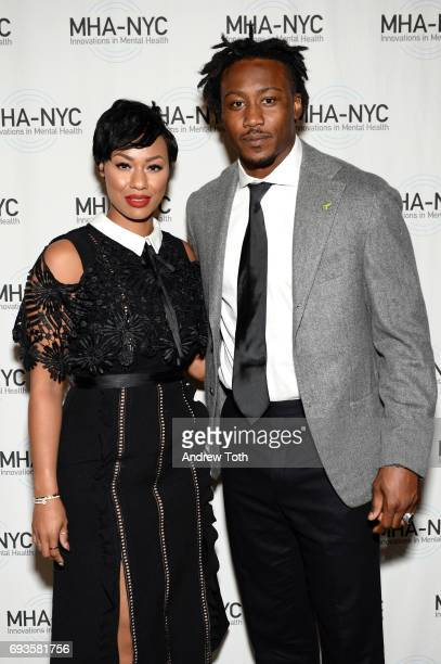 Michi Marshall and Brandon Marshall attend The Mental Health Association of New York City 25th Anniversary Gala at Gotham Hall on June 7 2017 in New...