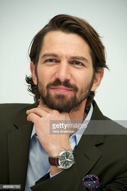 Michiel Huisman at the 'Age Of Adaline' Press Conference at the Four Seasons Hotel on April 12 2015 in Beverly Hills California