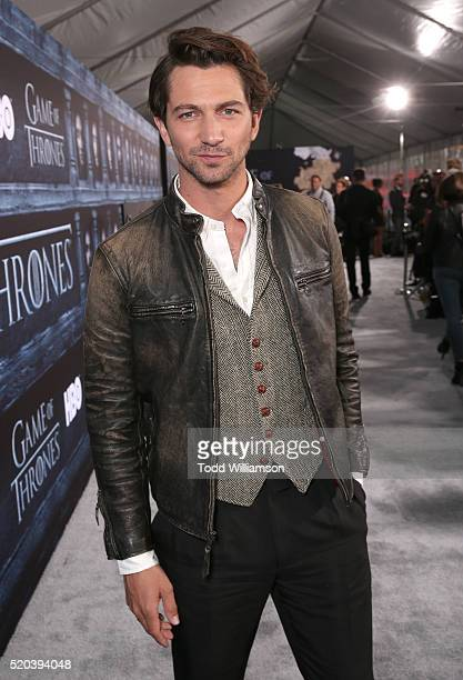 Michiel Huisman attends the premiere of HBO's 'Game Of Thrones' Season 6 at TCL Chinese Theatre on April 10 2016 in Hollywood California