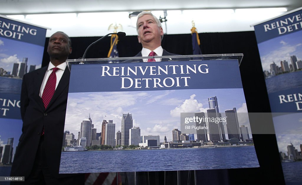 Michigan Gov And Detroit Emergency City Manager Orr Discuss Bankruptcy Filing