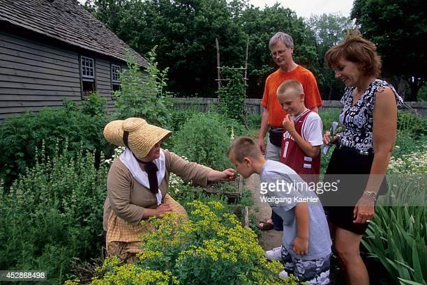 USA Michigan Near Detroit Dearborn Greenfield Village Daggett Farmhouse Garden Family