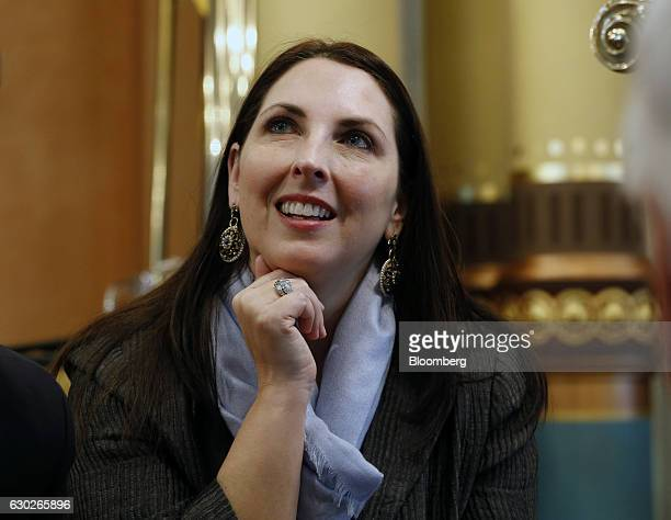 Michigan Republican Party chair Ronna Romney McDaniel chair for the Republican National Committee nominee for US Presidentelect Donald Trump attends...