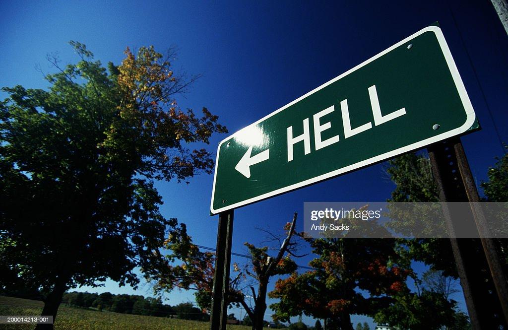 USA, Michigan, road sign