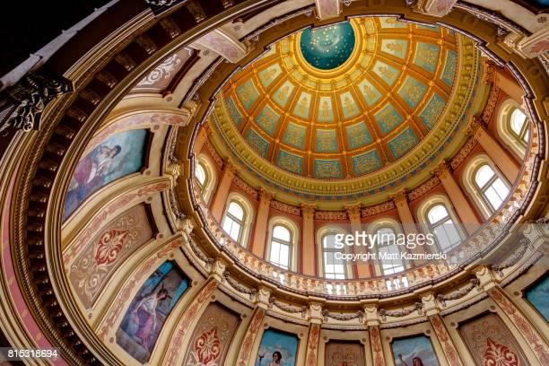 Michigan State Capitol Rotunda Ceiling