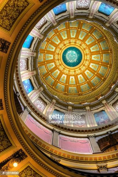 Michigan State Capitol Rotunda Vertical Ceiling