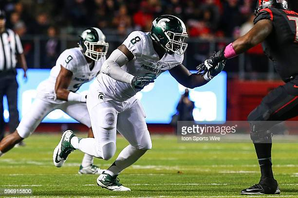 Michigan State Spartans defensive lineman Lawrence Thomas during the second quarter of the game between the Rutgers Scarlet Knights and the Michigan...