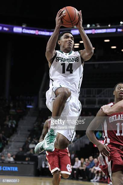 Michigan State Spartans guard Gary Harris during the second half of the game between the Oklahoma Sooners and the Michigan State Spartans in the...