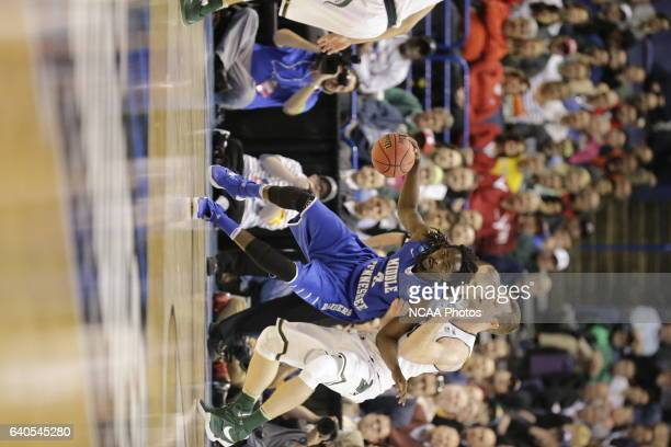 Michigan State University takes on Middle Tennessee State University during the 2016 NCAA Men's Basketball Tournament held at the Scottrade Center in...