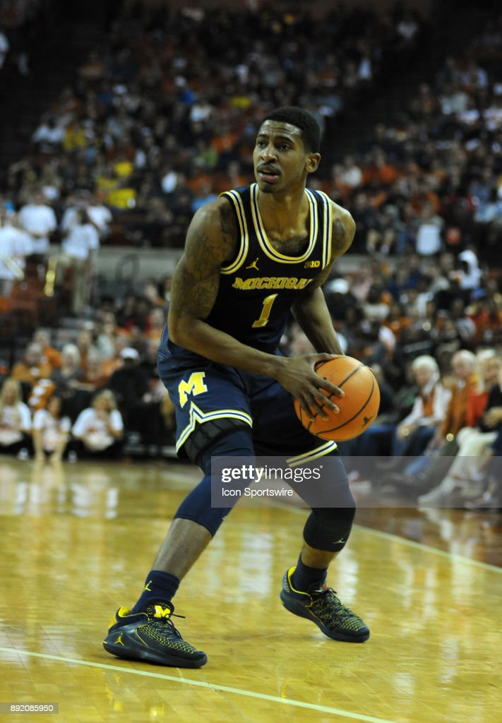 Michigan Wolverine guard Charles Matthews gets set to shoot during 59 - 52 win over the Texas Longhorns on December 12, 2017 at the Frank Erwin Center in Austin, TX.