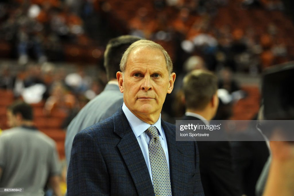 Michigan Wolverine head coach John Beilein watches action during 59 - 52 win over the Texas Longhorns on December 12, 2017 at the Frank Erwin Center in Austin, TX.