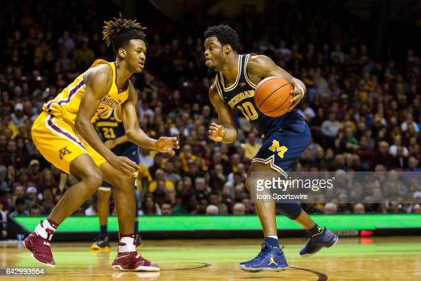 Michigan Wolverines guard Derrick Walton Jr in action in the 1st half during the Big Ten Conference game between the Michigan Wolverines and the...