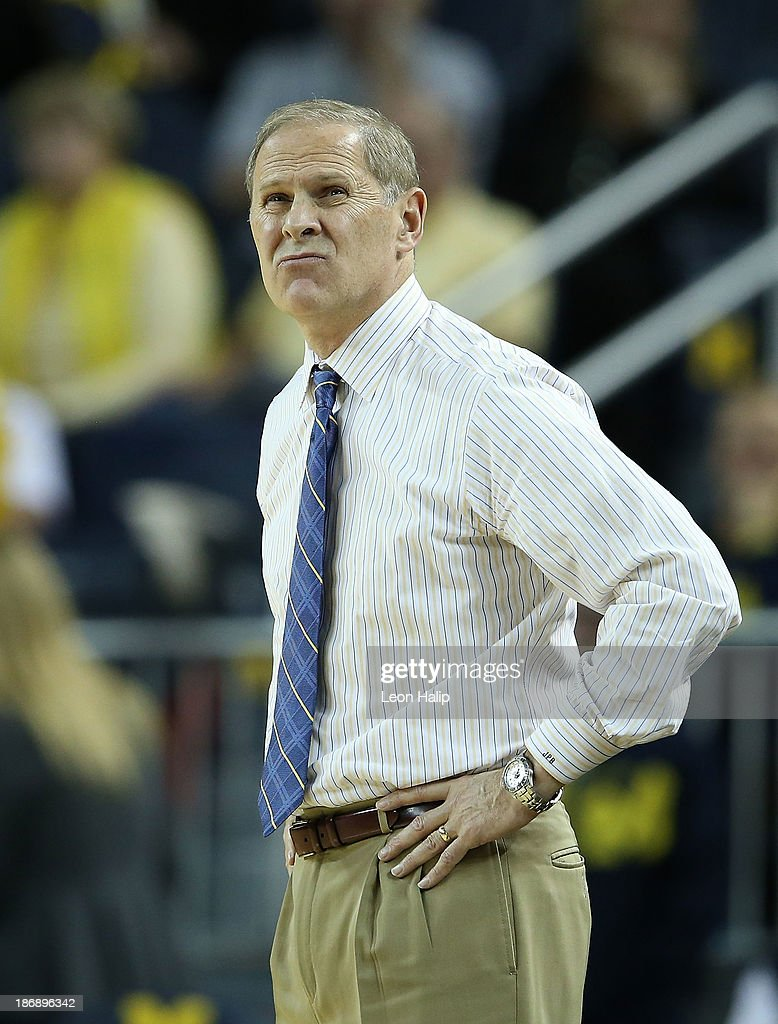 Michigan Wolverines head coach John Beilein watches the action during the game against the Wayne State Warriors at Crisler Center on November 4, 2013 in Ann Arbor, Michigan. Michigan defeated Wayne State 79-60.
