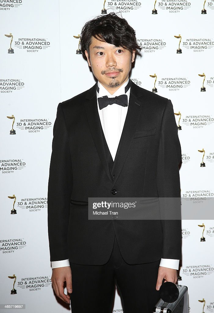 Michihiko Nishiyama arrives at the 2014 International 3D and Advanced Imaging Society's Creative Arts Awards held at Steven J. Ross Theatre on January 28, 2014 in Burbank, California.