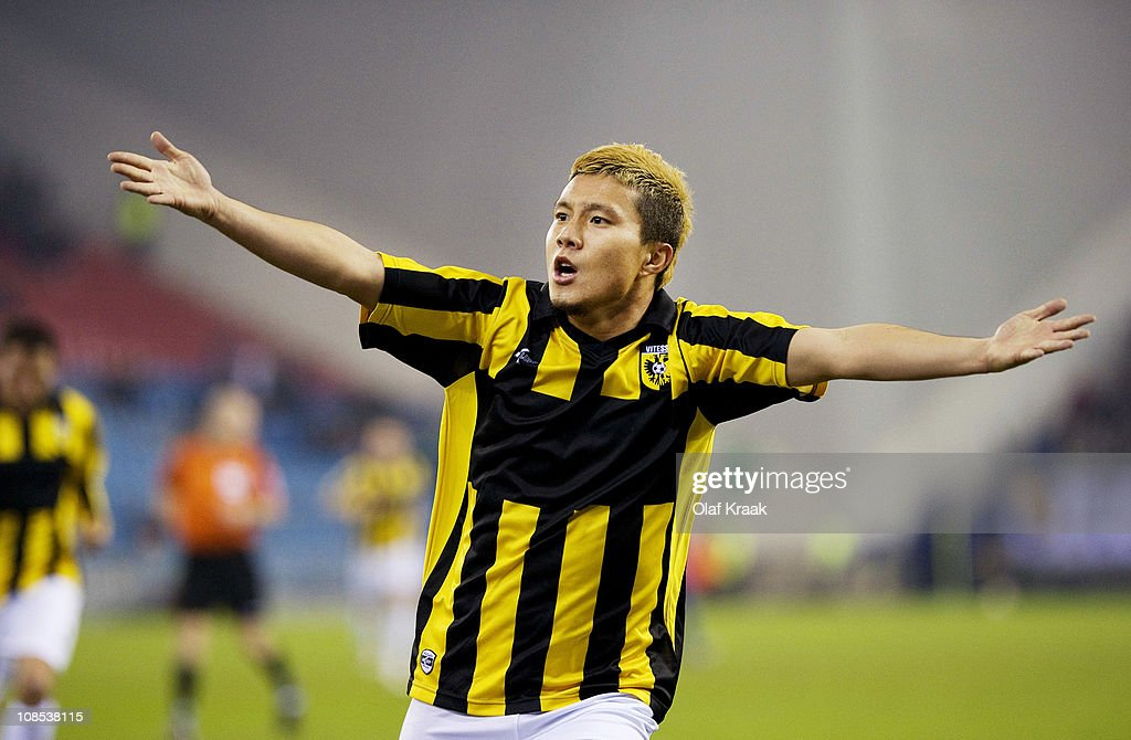 Michihiro Yasuda during the Eredivisie match between Vitesse and Roda JC at the Gelredome on January 29 2011 in Arnhem Netherlands
