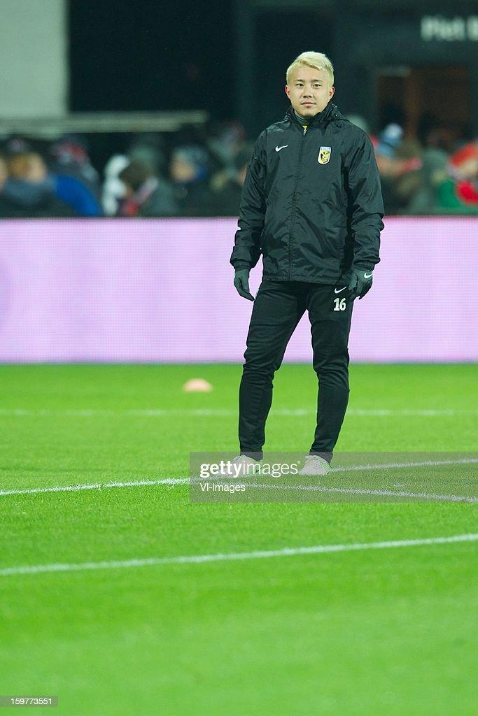 Michihiro Yasuda of Vitesse during the Dutch Eredivise match between AZ Alkmaar and Vitesse Arnhem at the AFAS Stadium on January 19, 2013 in Alkmaar, The Netherlands.