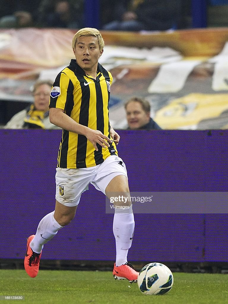 Michihiro Yasuda of Vitesse during the Dutch Eredivisie match between Vitesse Arnhem and PEC Zwolle at the Gelredome on march 31, 2013 in Arnhem, The Netherlands