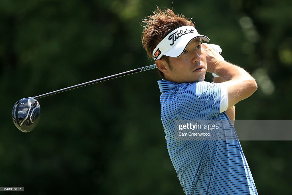 Michio Matsumura of Japan hits off the sixth tee during the first round of the World Golf Championships - Bridgestone Invitational at Firestone Country Club South Course on June 30, 2016 in Akron, Ohio.