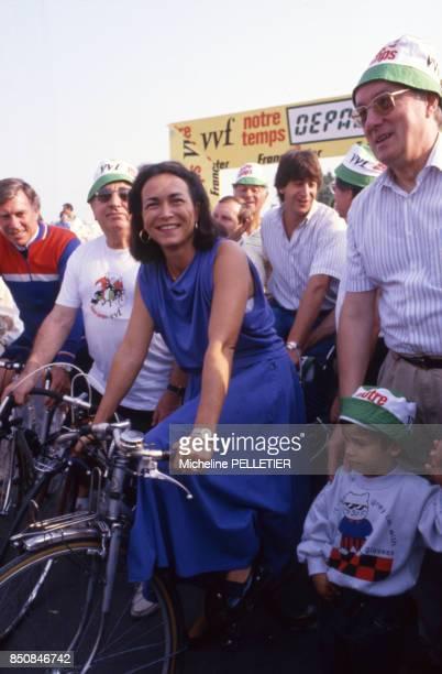 Michèle Barzach femme politique et médecin lors de la fête de la forme à Paris en septembre 1987 France
