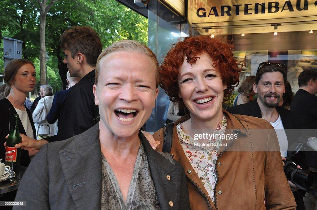 Michou Friesz (L) and Stefanie Dvorak attend the 'Vor der Morgenroete' Vienna Premiere at Gartenbau Kino Vienna on May 31, 2016 in Vienna, Austria.