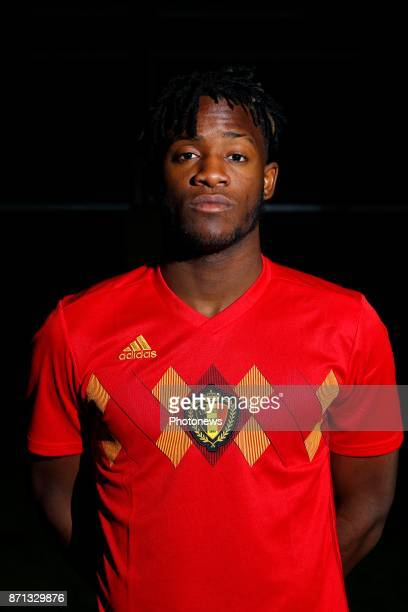 Michy Batshuayi forward of Belgium Official team picture during the photoshoot of the Red Devils at the national training center on November 07 2017...