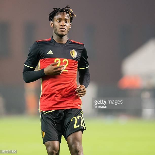 Michy Batshuayi of Belgium during the International friendly match between Belgium and Finland on June 1 2016 at the Koning Boudewijn stadium in...