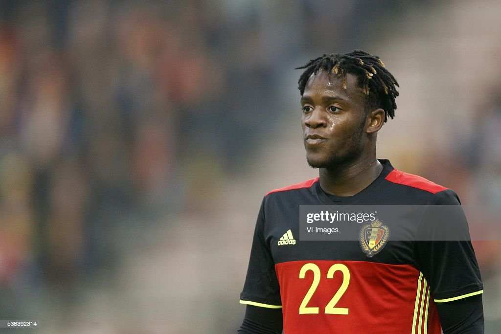 <a gi-track='captionPersonalityLinkClicked' href=/galleries/search?phrase=Michy+Batshuayi&family=editorial&specificpeople=8599446 ng-click='$event.stopPropagation()'>Michy Batshuayi</a> of Belgium during the International friendly match between Belgium and Finland on June 1, 2016 at the Koning Boudewijn stadium in Brussels, Belgium.