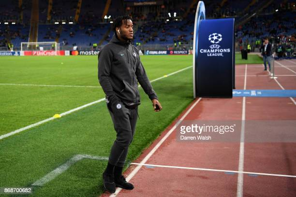 Michy Batshuayi of Chelsea ahead of the UEFA Champions League group C match between AS Roma and Chelsea FC at Stadio Olimpico on October 31 2017 in...