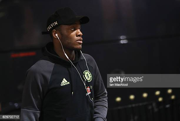 Michy Batshuayi of Chelsea arrives at the stadiium prior to kick off during the Premier League match between Sunderland and Chelsea at Stadium of...