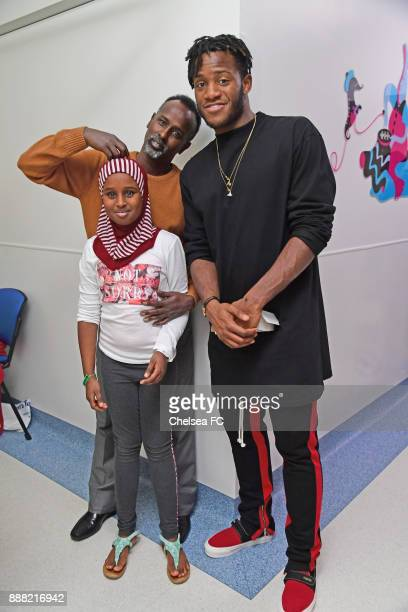 Michy Batshuayi of Chelsea at the Chelsea and Westminster Hospital on December 7 2017 in London England
