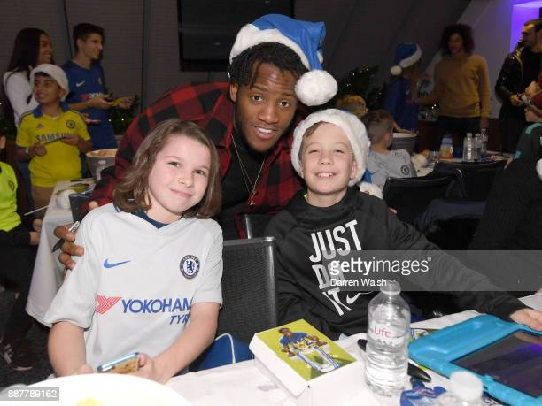 Michy Batshuayi of Chelsea at the Chelsea FC kids Christmas party December 7 2017 in London England