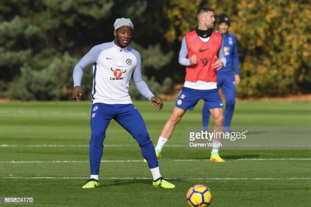 Michy Batshuayi of Chelsea during a training session at Chelsea Training Ground on November 3 2017 in Cobham England