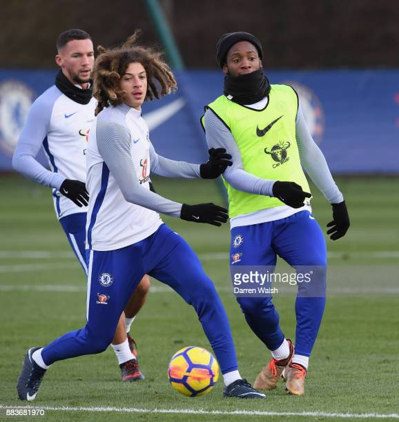 Michy Batshuayi of Chelsea during a training session at Chelsea Training Ground on December 1 2017 in Cobham England