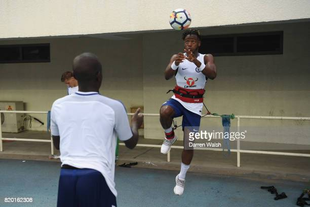 Michy Batshuayi of Chelsea during a training session at the AOTI Stadium on July 20 2017 in Beijing China