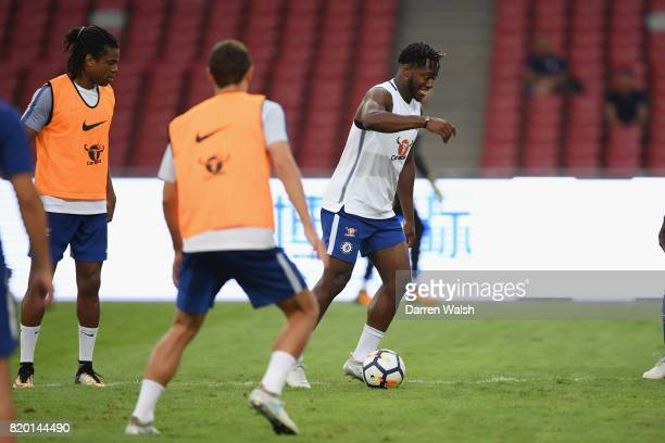 Michy Batshuayi of Chelsea during a training session at the Birds Nest Stadium on July 21 2017 in Beijing