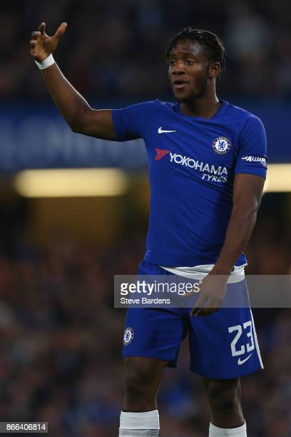 Michy Batshuayi of Chelsea during the Carabao Cup Fourth Round match between Chelsea and Everton at Stamford Bridge on October 25 2017 in London...