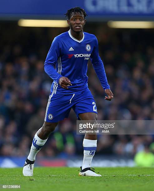 Michy Batshuayi of Chelsea during the Emirates FA Cup Third Round between Chelsea and Peterborough United at Stamford Bridge on January 8 2017 in...