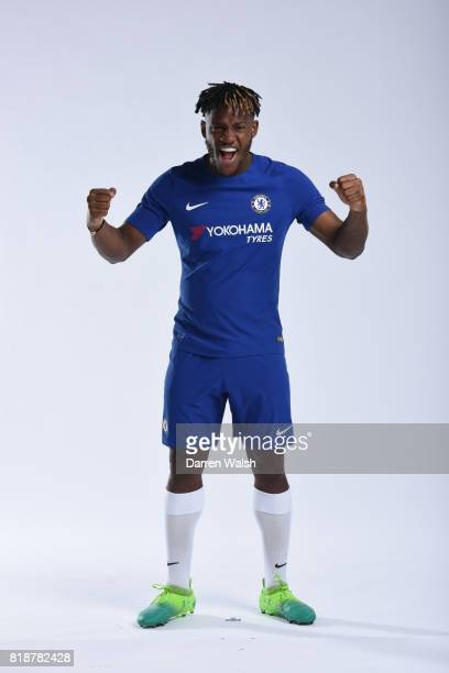 Michy Batshuayi of Chelsea during the New Nike Kit Photoshoot at Chelsea Training Ground on April 18 2017 in Cobham England