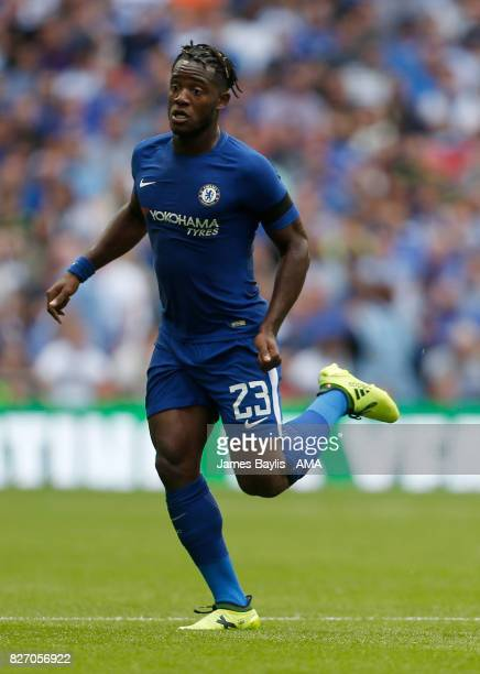Michy Batshuayi of Chelsea during the The FA Community Shield between Chelsea and Arsenal at Wembley Stadium on August 6 2017 in London England