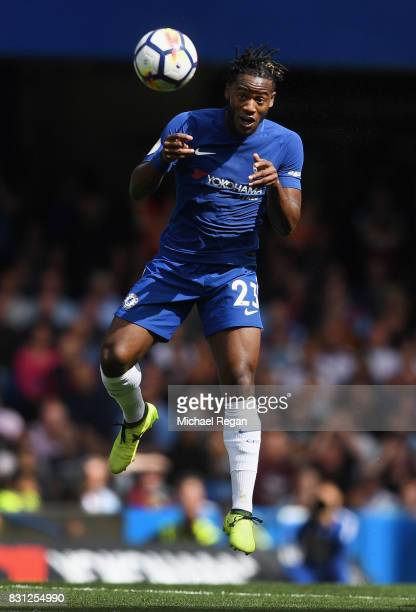 Michy Batshuayi of Chelsea in action during the Premier League match between Chelsea and Burnley at Stamford Bridge on August 12 2017 in London...