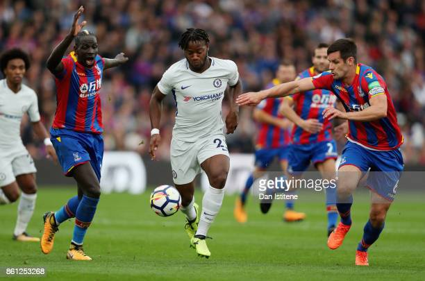 Michy Batshuayi of Chelsea in action during the Premier League match between Crystal Palace and Chelsea at Selhurst Park on October 14 2017 in London...