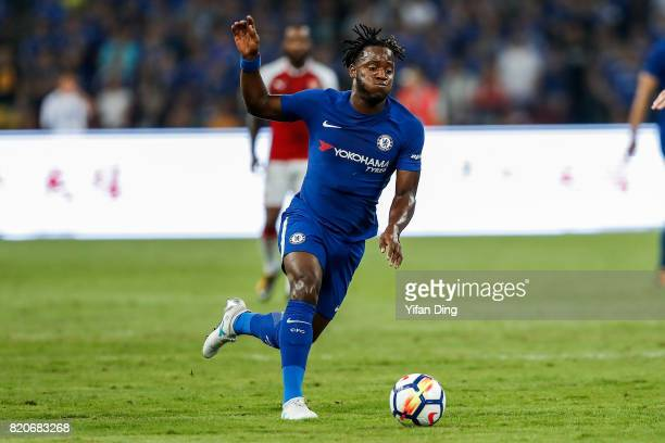 Michy Batshuayi of Chelsea reacts during the PreSeason Friendly match between Arsenal FC and Chelsea FC at Birds Nest on July 22 2017 in Beijing China