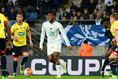 Michy Batshuayi of Marseille during the semifinal French Cup between Sochaux and Olympique de Marseille at Stade Auguste Bonal on April 20 2016 in...